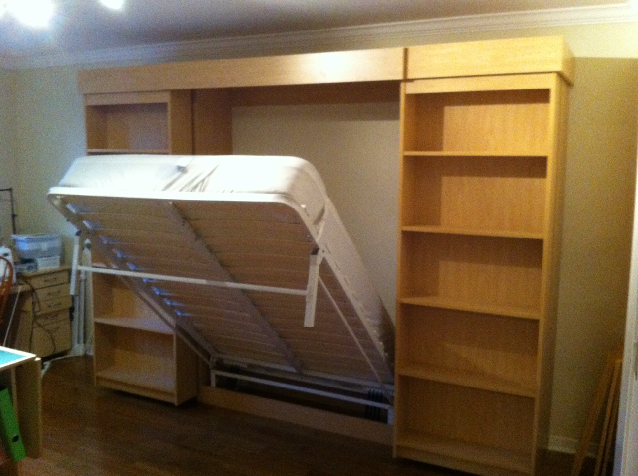 Sliding library murphy bed amipublicfo Image collections